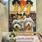 Bearded Collie Poster Canvas Print -  Singin&#39; in the Rain