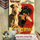 Airedale Terrier Poster Canvas Print  -  Notorious Movie Poster