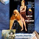 American Cocker Spaniel Canvas Print - Love on a Pillow Movie Poster