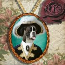 German Boxer Jewelry Pendant - Brooch Handcrafted Ceramic by Nobility Dogs