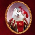 Samoyed Jewelry Brooch Handcrafted Ceramic by Nobility Dogs