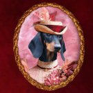 Dachshund Jewelry Brooch Handcrafted Ceramic by Nobility Dogs