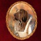 Bracco Italiano Jewelry Brooch Handcrafted Ceramic by Nobility Dogs