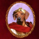 Rhodesian Ridgeback Jewelry Brooch Handcrafted Ceramic by Nobility Dogs