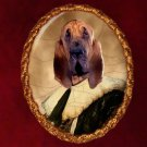 Bloodhound Jewelry Brooch Handcrafted Ceramic by Nobility Dogs