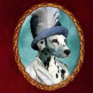 Dalmatian Jewelry Brooch Handcrafted Ceramic by Nobility Dogs
