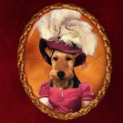 Welsh Terrier Jewelry Brooch Handcrafted Ceramic by Nobility Dogs