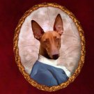 Pharaoh Hound Jewelry Brooch Handcrafted Ceramic by Nobility Dogs