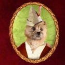 Cairn Terrier Jewelry Brooch Handcrafted Ceramic by Nobility Dogs