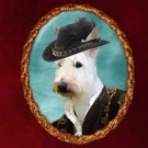 Scottish Terrier Jewelry Brooch Handcrafted Ceramic by Nobility Dogs