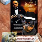Rottweiler Vintage Poster Canvas Print - The Godfather Movie Poster