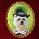 West Highland White Terrier Jewelry Brooch Handcrafted Ceramic by Nobility Dogs