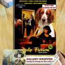 Welsh Springer Spaniel Art Poster Canvas Print -Pulp Fiction Movie Poster
