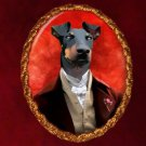 Manchester Terrier Jewelry Brooch Handcrafted Ceramic by Nobility Dogs