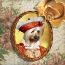 Silky Terrier Jewelry Brooch Handcrafted Ceramic by Nobility Dogs