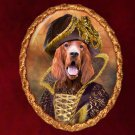 Irish Setter Jewelry Brooch Handcrafted Ceramic by Nobility Dogs