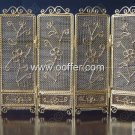 Iron Wire Craft Golden Screen
