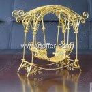 Iron Wire Craft Golden Rocking Chair