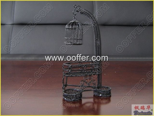 Iron Wire Craft Black Birdcage