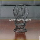 Iron Wire Craft Black Chair