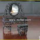 Iron Wire Craft Black Dressing Table With Stool
