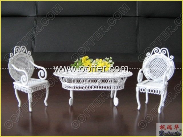 Iron Wire Craft White Courtyard Set