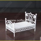 Iron Wire Craft White Bed