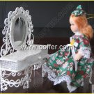 Iron Wire Craft White Dressing Table With Stool