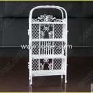 Iron Wire Craft White Shelf