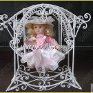 Iron Wire Craft White Rocking Chair