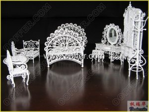 Iron Wire Craft White Bed Room Set