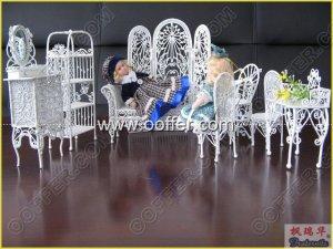 Iron Wire Craft White Living Set