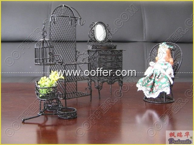 Iron Wire Craft Black Courtyard Set