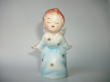 """VINTAGE KISSING ANGEL CHRISTMAS MADE IN JAPAN SB SCHIMIO BROS 3.5 """" TALL"""