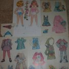 VINTAGE GIRL PAPER DOLLS LOT W/ SPRING CLOTHES UNCUT RARE
