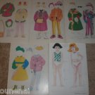 VINTAGE GIRL PAPER DOLLS W/ WINTER CLOTHES LOT UNCUT RARE