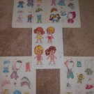 VINTAGE CHILD CHIBI PAPER DOLLS W/ COSTUME CLOTHES LOT UNCUT