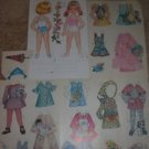VINTAGE GIRL PAPER DOLLS W/ SPRING CLOTHES LOT FROM TURKEY