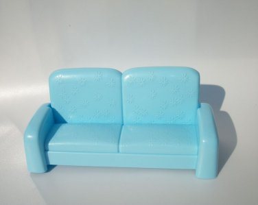 BLUE FOLDING SOFA FOR BRATZ MOXIE MONSTER HIGH DOLLS DOLLHOUSE FURNITURE