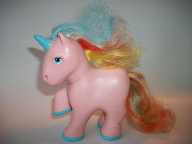 Vintage Toy Pony Unicorn Rainbow Remco 1989 Pink Figure