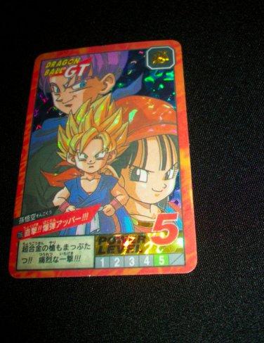 DRAGON BALL GT TRUNKS KID GOKU PAN RARE RETIRED STICKER CARD