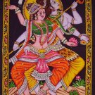 Hindu SHIVA Dance Nataraja sequin cotton WALL HANGING tapestry ethnic art decor