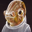 black velvet painting of admiral ackbar star wars art