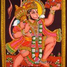 hindu monkey god hanuman sequin cotton wall hanging batik tapestry art decor