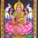 hindu money goddess laxmi lakshmi sequin wall hanging ethnic decor tapestry india art