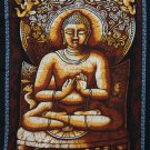 buddhist buddha cotton cloth batik wall hanging tapestry ethnic home decor India art