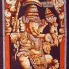 hindu cotton batik painting standing Ganesh GANESHA WALL HANGING tapestry India art