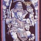 Batik Hindu Elephant God Dancing Ganesha India Wall Hanging Decor Cotton Tapestry Vintage Art