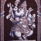 batik ganesha ganesh wall hanging hindu elephant God tapestry vintage cotton indian ethnic art decor