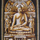 buddhist cotton fabric batik Buddha wall hanging tapestry Yoga decor india art